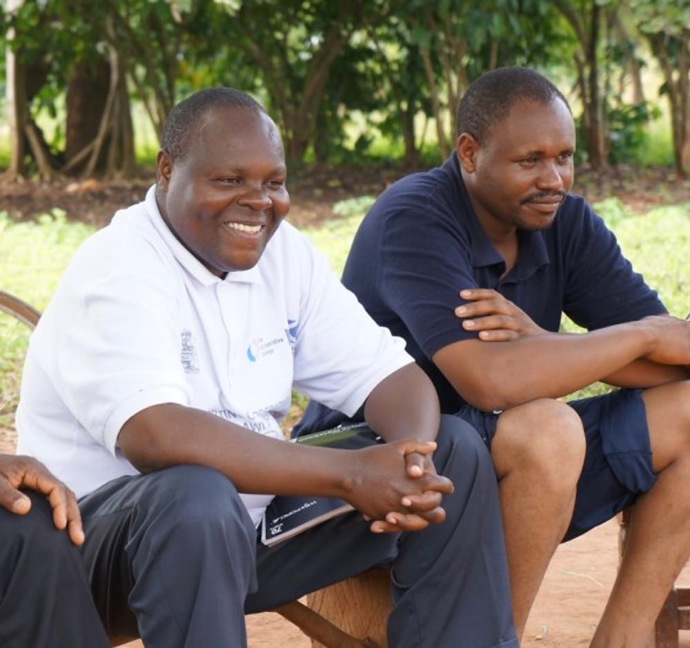 SBF Coordinators canaan Gondwe (Malawi) and Dennis Kiprop (Kenya) at our conference in Uganda in 2014.