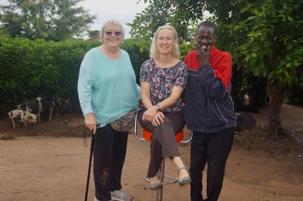 group photo in rural Uganda