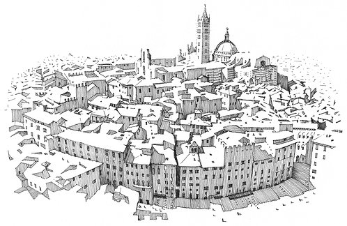 Siena from Torre del Mangia