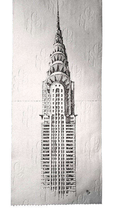 Chrysler Building on 3 ply