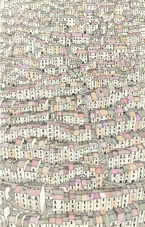Gangi, Sicily. Large print