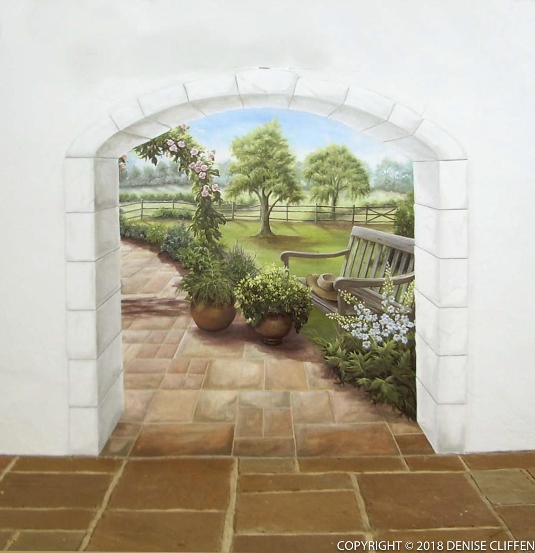 Garden Mural - Trompe L'Oeil Archway