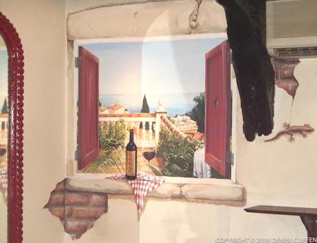Trompe L'Oeil Window Marcos Tapas Bar