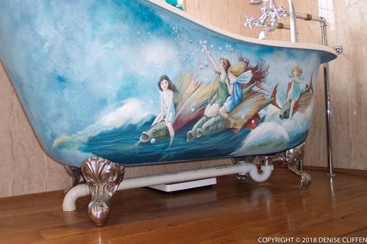 Flight of the Water Fairies - Cast Iron Bath