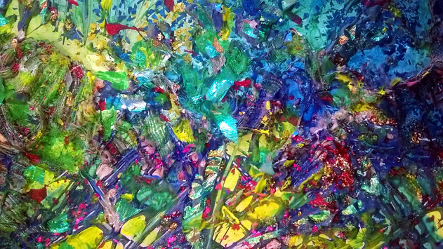 Detail of Abstract Mixed Media Panel ©Denise Cliffen