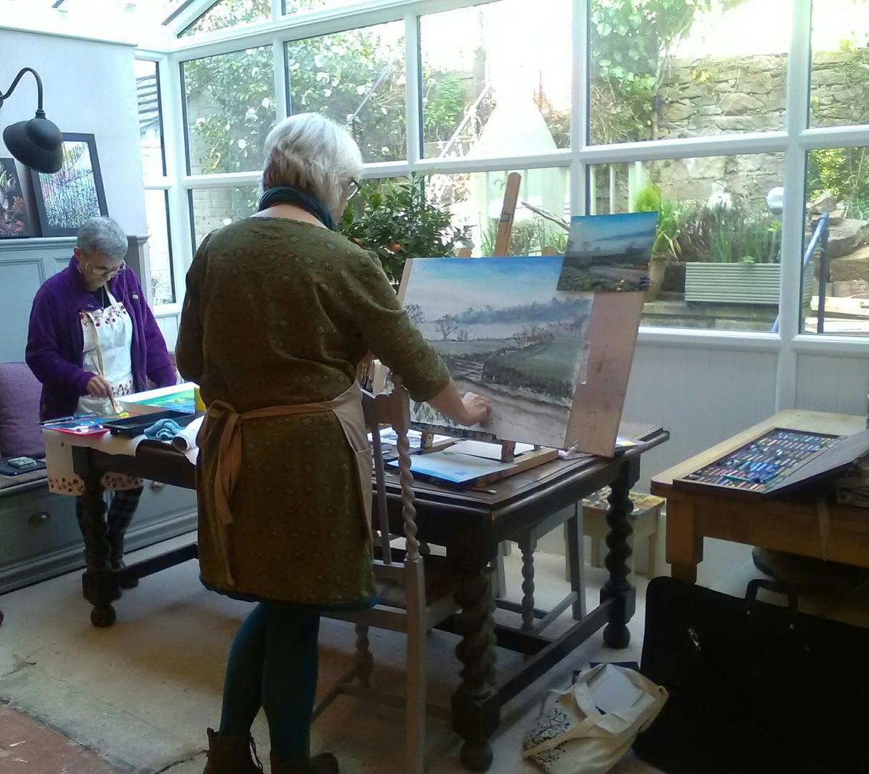 Home Studio - Whatstandwell - Soft Pastels & Acrylics