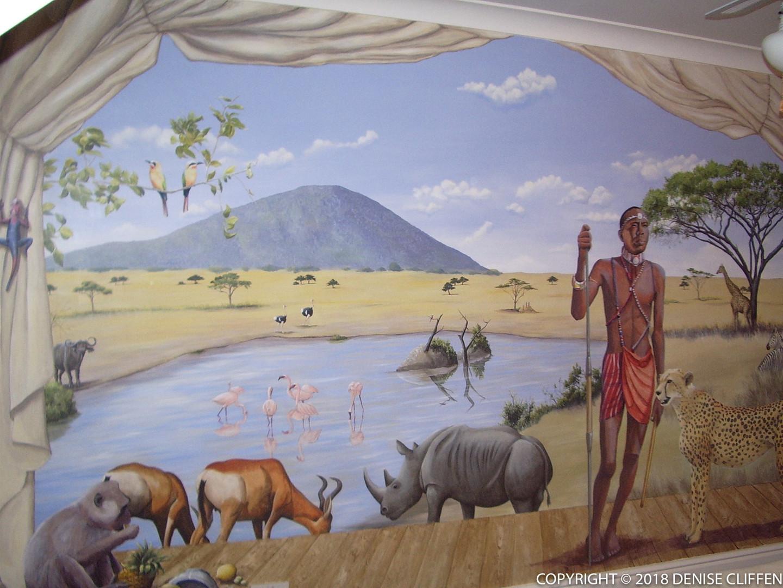 Masai Mara Mural