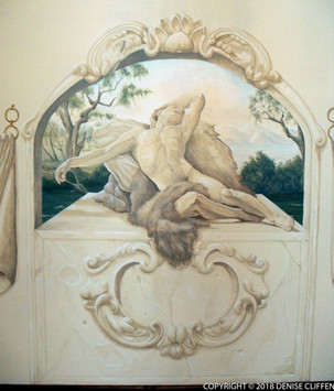Endymion - including trompe l'oeil stonework arch