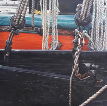 Thames Barge Leaboard ©Denise Cliffen