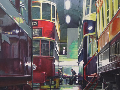 Tramway Workshop - Exhibited by Royal Society of British Artists 2021