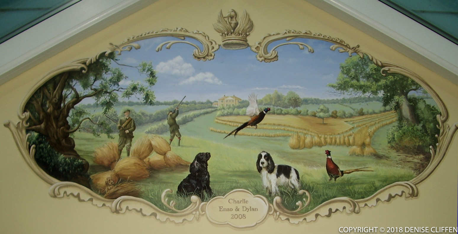 Vignette - Private Commission including dog portraits.