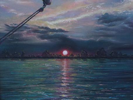 Thames Barge Sunset