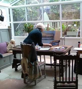 Home Studio - Whatstandwell - Soft Pastel Landscape