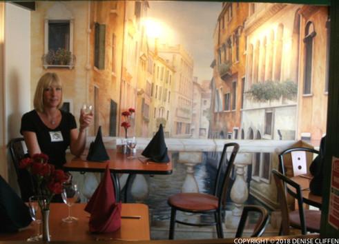 Tarantino Italian Restaurant Mural Detail