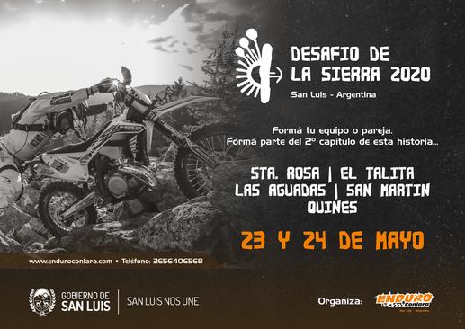 Desafio de la Sierra 2020. Enduro en San Luis, Argentina. Enduro Conlara
