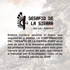 Confirmación del Desafío de la Sierra 2022