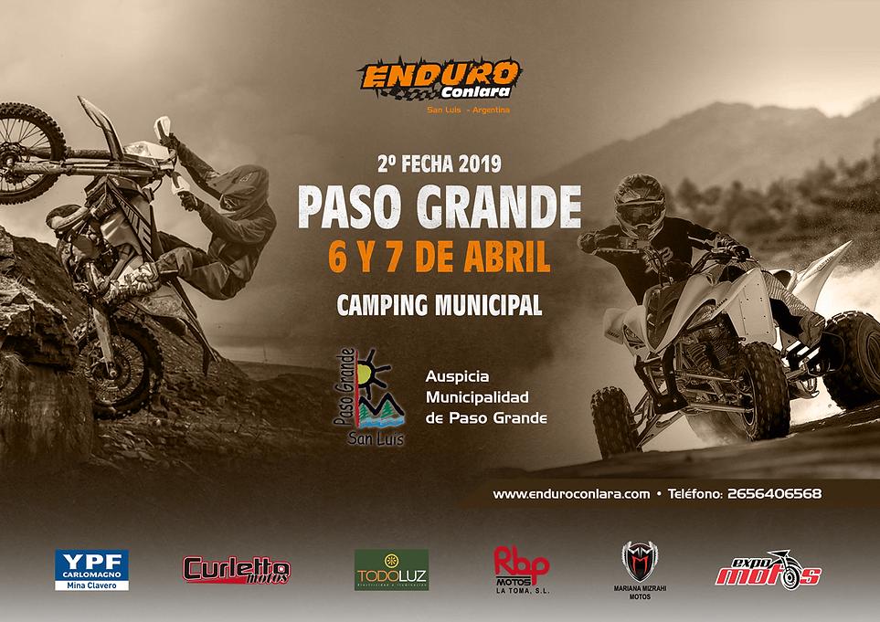 2º Fecha 2019 | 6 y 7 de abril | Paso Grande