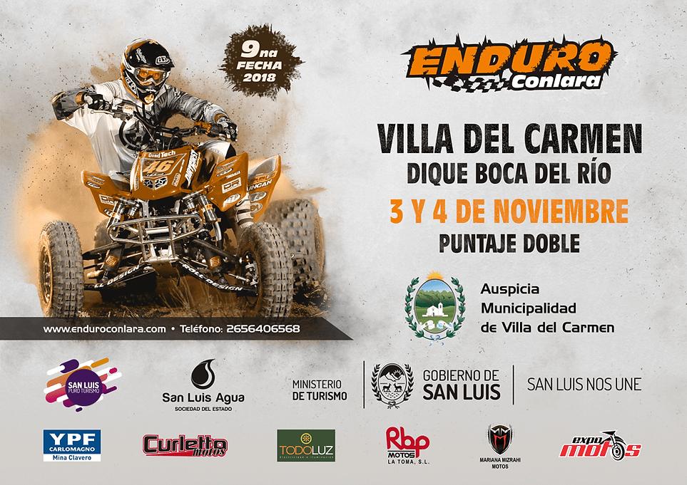 9º Fecha 2018 | 3 y 4 de noviembre | Villa del Carmen - Dique Boca del Río | Puntaje Doble