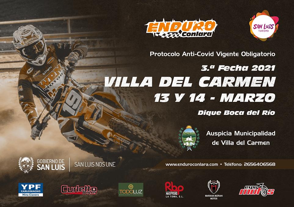 3.ª Fecha 2021 - 13 y 14 de marzo - Villa del Carmen