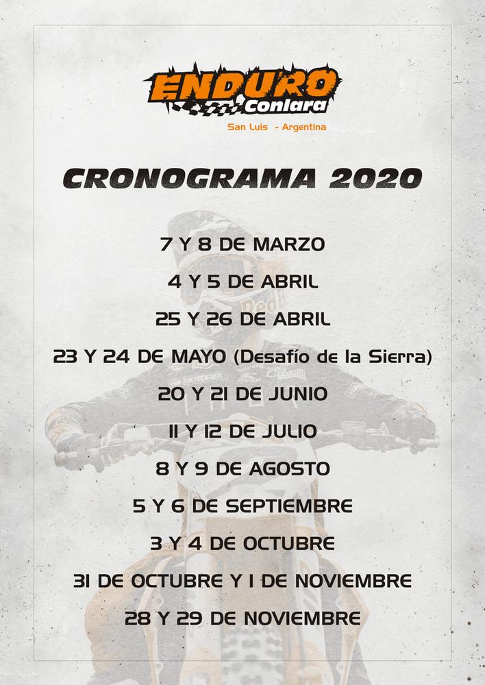 Calendario 2020 Enduro Conlara