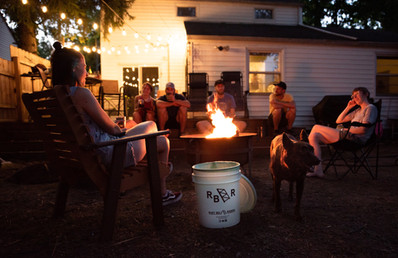 The Cleveland Outpost Crew; campfire din