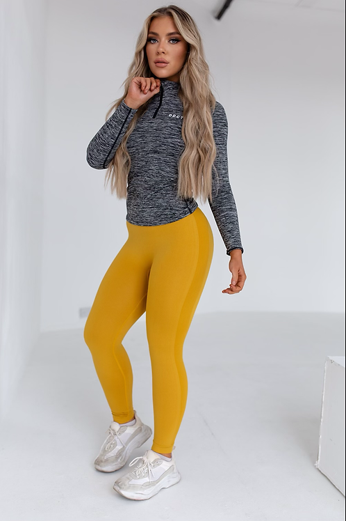 Soft touch yellow leggings