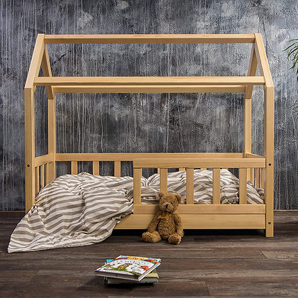 #MYFIRSTHOUSE kids bed in natural