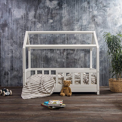 #MYFIRSTHOUSE kids bed in white