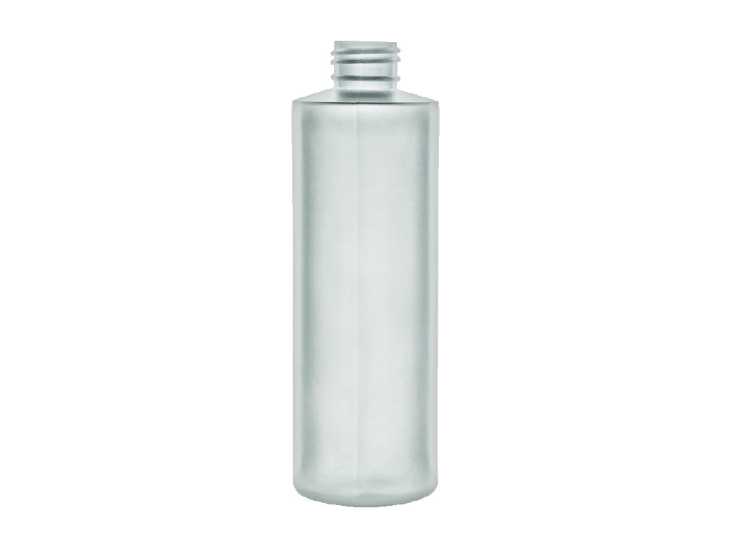 6-Pack 8-oz. HDPE Natural New w//White Lid Plastic Bottle