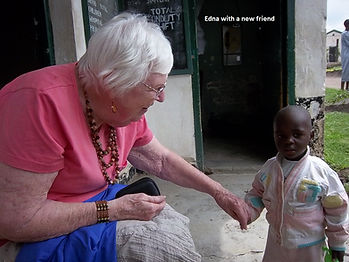 Edna Klein with child living in the wome