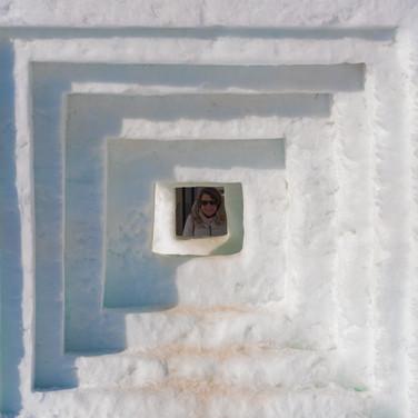 Fenster im Schnee; RS Fotografie