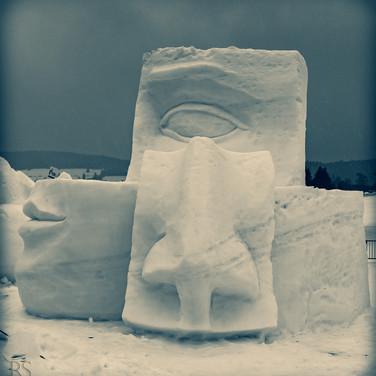 Schneeskulptur; RS Fotografie
