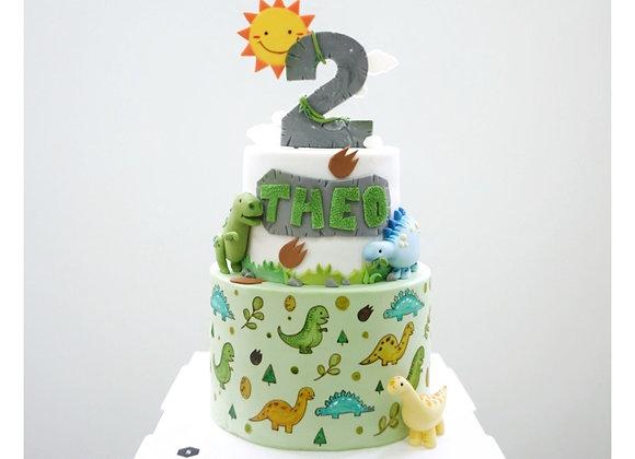 Fondant Cake - Two Layer