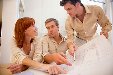 Discussing home building plans