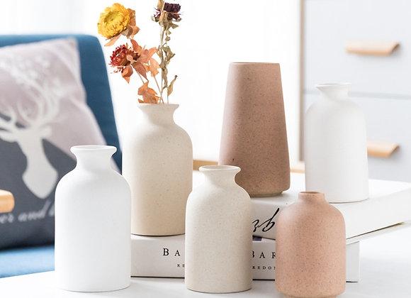 Simple Ceramic Vases  - Frosted Ceramic