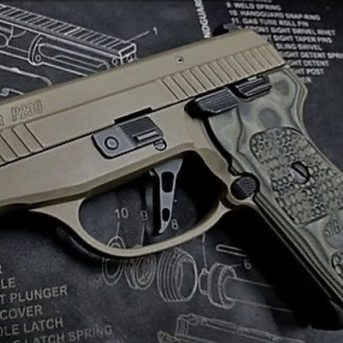 "SIG Sauer P239 P225A P245 & older P220 P226 ""Flat"" Adjustable Trigger"