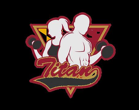 Titan Fitness with delmarva flag backgro