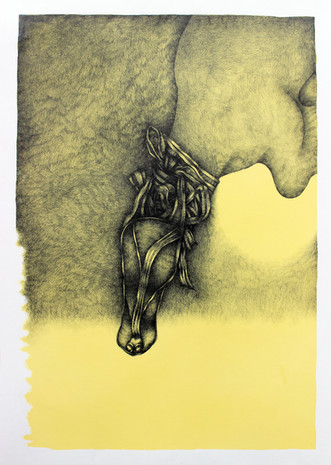 In Shadow (Yellow Drawing Series)