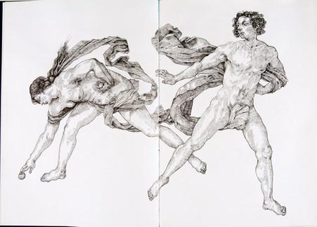 Study of 'Hippomenes and Atalanta'