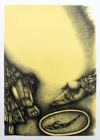 An Offering (Yellow Drawing Series)