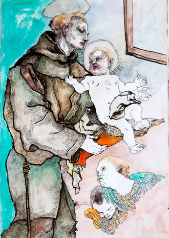 Study of 'Saint Anthony of Padua with the Infant Christ'