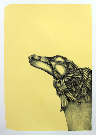 Leaning In (Yellow Drawing Series)