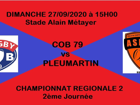 Programme du week-end au COB79
