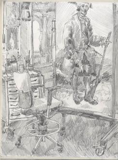 Study of Prado Restoration Department