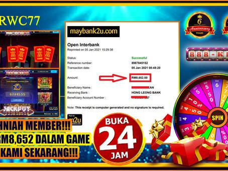 TAHNIAH MEMBER CUCI RM8,652 DALAM 888KING!!! JOIN KAMI SEKARANG!!!!