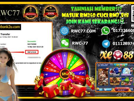 Tahniah member dapat cuci RM7,818 dalam XE88!!! Join Kami Sekarang dengan Min deposit RM30!!!