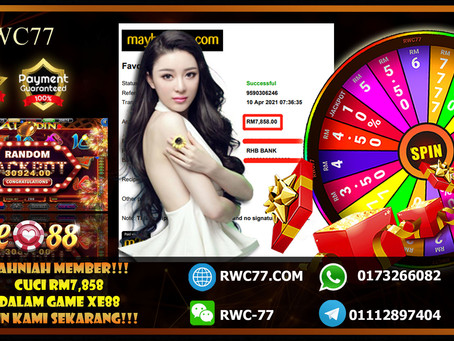 Congratulation RWC77 member get withdraw RM7,858 inside XE88!! Join Us Now And Win CASH!!!!