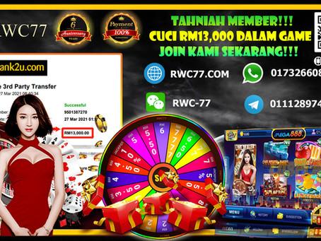 Tahniah member cuci RM13,000 dalam MEGA888!! Masuk RM300 cuci RM13,000!! Join kami sekarang !!!!