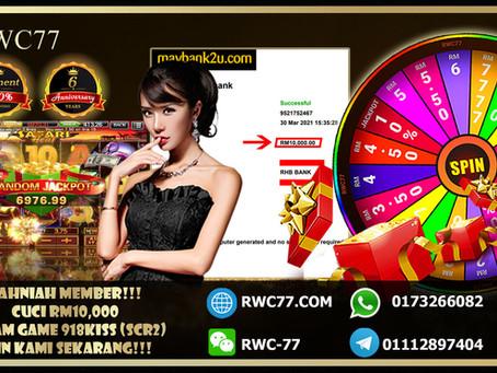 Tahniah member cuci RM10,000 dalam 918KISS(SCR2)!! Join Kami dengan min deposit RM30!!!
