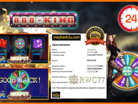 Tahniah member dapat cuci RM4,100 dalam 888KING !! Join Kami Dan Menang Sekarang!!!!